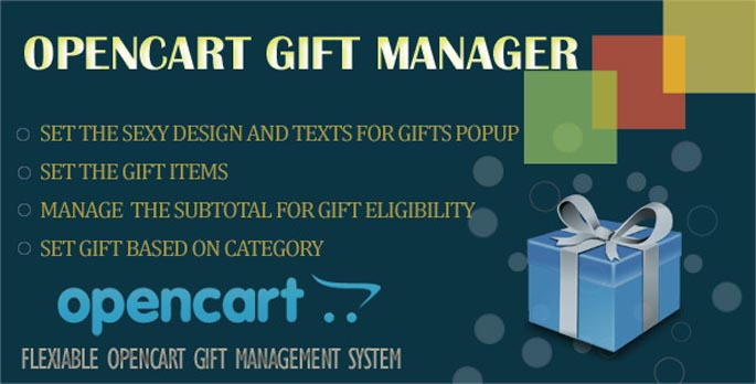Opencart Gift Manager