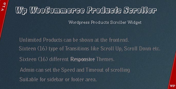 WP WooCommerce Products Scroller