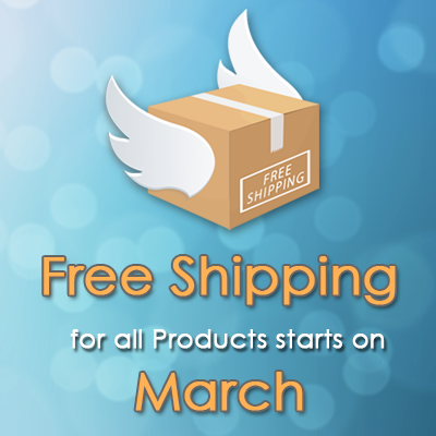 Free Shipping on March !